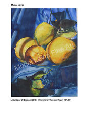 """Les Citrons de Suzanne""the original is a watercolor 18""x24""on watercolor  paper"