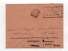 France marque postale lettre FM tampon Marseille 1942 flamme DE LA LEGION /L858