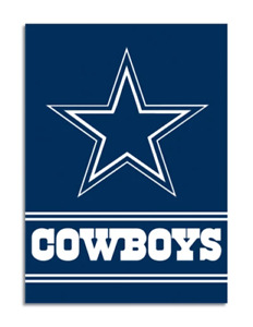 "Dallas Cowboys Double Sided 28"" x 40"" Official NFL Banner Vertical Flag"
