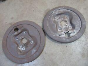 1949 1950 Chevrolet Styleline Fleetline front spindle brake shoe backing plates