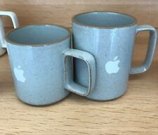Set 2 Logo Apple  macintosh Computer Hasami Porcelain Mug Japan Clear 13 & 8 Oz
