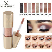Metallic Shiny Glitter Eyes Eyeshadow Waterproof Glitter Liquid Eyeliner Makeup