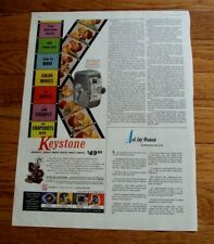 Vtg 1955 Half Page Magazine Ad ~ KEYSTONE Deluxe Movie Camera / CAPRI