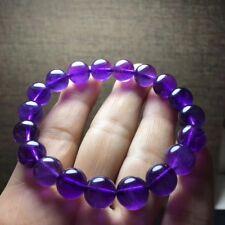 Natural Purple Amethyst Quartz Crystal Round Beads Healing Bracelet 10mm AAAA