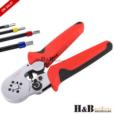 Bootlace Ferrule Crimper Terminal Ratchet Crimping Tool 0.25-10mm² Cord End Lug