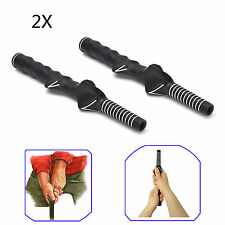 2x Golf Swing Trainer Training Grip Teaching Aid Right-Handed Practice Aid Black