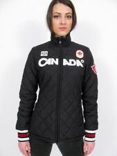HBC HUDSONS BAY 2010 TEAM CANADA OLYMPIC BLACK QUILTED PODIUM JACKET COAT~XL
