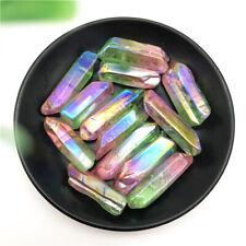 50g Green and Pink Titanium Aura Lemurian Seed Quartz Crystal Stones Specimen