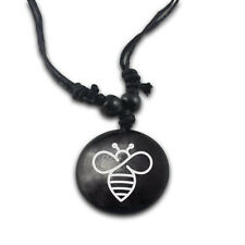 """25 pc Wholesale White Bee Necklace Awareness Adjustable 14"""" to 30"""""""