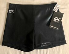 Gk Black Mystique Adult Small Low Rise Nylon/Spandex Cheer Shorts Sz As Nwt!
