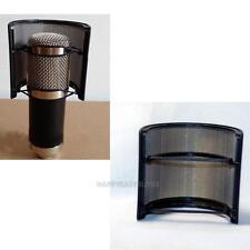 Dual Layer Recording Microphone Mic Windscreen Pop Filter Mask Shield Black