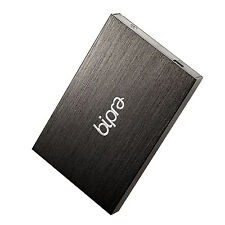 BIPRA 640GB USB 2.0 NTFS DISCO RIGIDO ESTERNO SLIM-NERO PER WINDOWS utilizzare solo