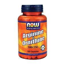 NOW Foods L-Arginine & Ornithine 500/250mg, Capsules 100 ea