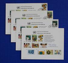 United Nations (SC33) 1988 Int'l Volunteer Day Souvenir Card set