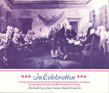 #1691-1694-S1 First Day Ceremony Program 13c Declaration of Independence Stamp