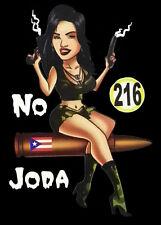PUERTO RICO CAR DECAL STICKER  NO JODA PUERTO RICAN GIRL  #216