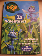 Disney - A Bugs Life 32 Fold & Seal Valentines / 48 Stickers