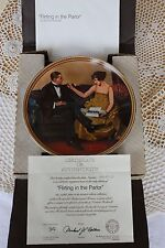 Knowles Plate - Rockwell's Rediscovered Women - Flirting in the Parlor - Coa