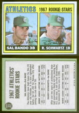 (19059) 1967 Topps 33 Rookie Stars-Sal Bando-Schwartz Athletics-EM