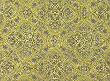 Black Edition/Romo-Fretwork Upholstery Fabric-Byzantine/Mimosa- 5.75 yd #7571/02