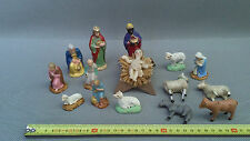 Lot d'anciens santon de Provence crèche Noël jesus cire french antique