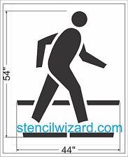 "Pedestrian Crossing Stencil, 1/16"" Reusable Plastic for Striping"