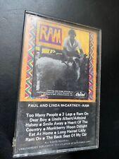 Paul and Linda McCartney -  RAM Cassette Tape 1971 Original Release