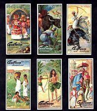 Life In India German Gartmann Card Set 1900s Elephant Gods War Hunting Farming