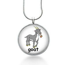 Goat Pendant Necklace, Animal Jewelry for Her, Summer, ocean, womens jewelry