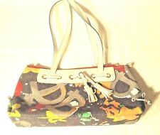 Dooney & Bourke Small Handbag Multi Colored Denim Perfect Condition