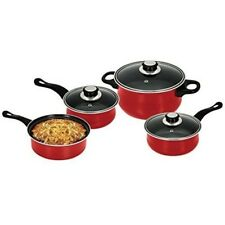 Non-Stick Coating Cookware 7 piece Set (Red)