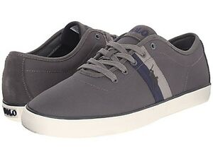 POLO RALPH LAUREN 816602935004 HALFORD SK VLC Mn's (M) Grey Suede Casual Shoes
