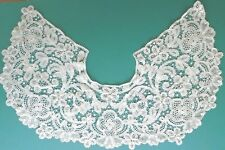 ANTIQUE VICTORIAN HANDMADE WHITE INTRICATE MIXED BOBBIN LACE LARGE COLLAR