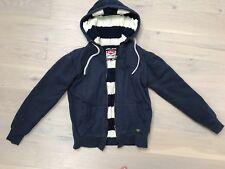 Lee Cooper navy blue hoodie hooded jumper ladies size 12