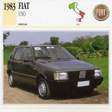 1983 FIAT UNO Classic Car Photograph / Information Maxi Card