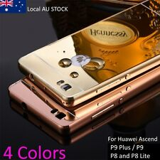 Metal Case Mirror back For Huawei P9 P9 plus P8 P8 Lite Acrylic Cover Phone Case