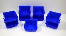 9 x Stapelboxen Afo Gr.1 blau Sichtlagerkästen - Stapelkästen NEU