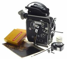 BOLEX H16 REX5 16mm film camera body manual Gossen meter filter set cable crank
