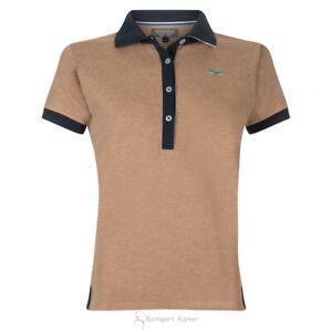 Euro Star Damen Polo Shirt, beige melange, Pippa, kurzarm, Gr. S