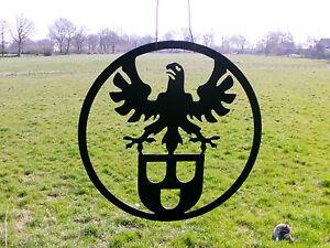 Maler das Zunftzeichen aus 3mm Stahl D=40cm Innungsschild Logo Maibaum Geschenk