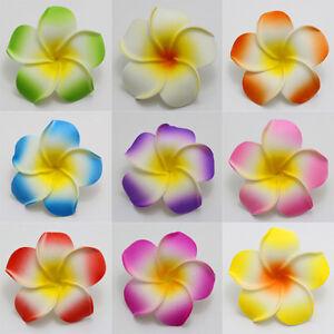 50piecs NEW Foam Floating Frangipani/Plumeria/Hawaiian Flower Head mix color