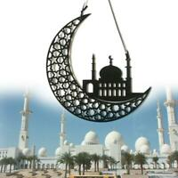 Retro Wood Eid Mubarak Hanging Ornament Muslim Ramadan Pendant Party Decor