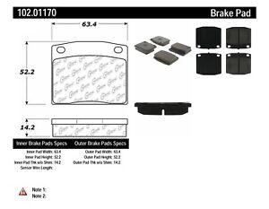 Disc Brake Pad Set-C-TEK Metallic Brake Pads Front Centric 102.01170