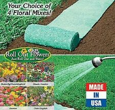 Easy Garden Roll Out Flowers Plants Seeds Bulbs Grower Zinnias, Olde English Nib