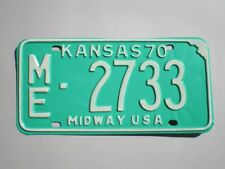 AUTHENTIC 1970 KANSAS LICENSE PLATE