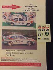 DECALS 1/43 SKODA OCTAVIA KIT CAR SIBERA RALLYE TOUR DE CORSE 1998 RALLY WRC