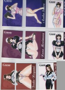 Japanese anime manga G-taste Trading cards Nine pieces lot /by Hiroki Yagami