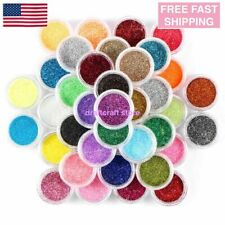 45 Mix Colors Art Powder Glitter Dust Set Uv Acrylic Nail Tips Glitters Manicure
