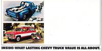 1974 Chevrolet Truck Original Mailer Car Brochure - Suburban El Camino