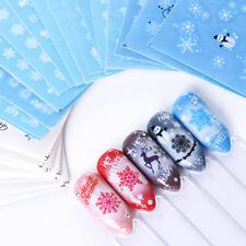 Christmas Nail Sticker Transfer Decal Nail Art Tips Winter Snowflakes